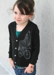 Wolf on a Bicycle Kids Cardigan