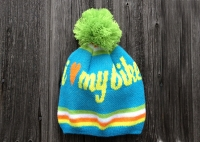 "Pom Pom Hat ""I love my bike"""